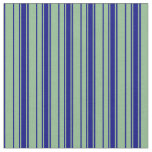 [ Thumbnail: Dark Sea Green and Blue Colored Pattern Fabric ]