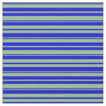 [ Thumbnail: Dark Sea Green and Blue Lined Pattern Fabric ]
