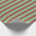 [ Thumbnail: Dark Sea Green and Brown Colored Pattern Wrapping Paper ]