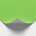 [ Thumbnail: Dark Sea Green and Chartreuse Colored Lines Wrapping Paper ]