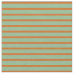 [ Thumbnail: Dark Sea Green and Chocolate Colored Pattern Fabric ]