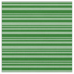 [ Thumbnail: Dark Sea Green and Dark Green Stripes Fabric ]