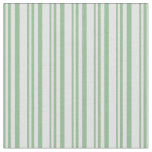 [ Thumbnail: Dark Sea Green and Lavender Striped Pattern Fabric ]