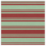 [ Thumbnail: Dark Sea Green and Maroon Pattern Fabric ]