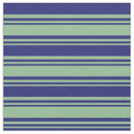 [ Thumbnail: Dark Sea Green and Midnight Blue Pattern Fabric ]