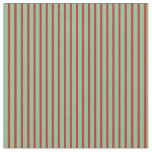 [ Thumbnail: Dark Sea Green and Red Colored Pattern Fabric ]