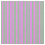 [ Thumbnail: Dark Sea Green and Violet Colored Stripes Fabric ]