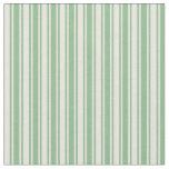 [ Thumbnail: Dark Sea Green & Beige Lines Pattern Fabric ]
