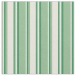 [ Thumbnail: Dark Sea Green, Beige & Sea Green Colored Pattern Fabric ]