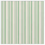 [ Thumbnail: Dark Sea Green & Bisque Striped Pattern Fabric ]