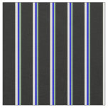 [ Thumbnail: Dark Sea Green, Blue, Beige, and Black Lines Fabric ]