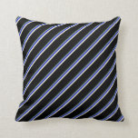 [ Thumbnail: Dark Sea Green, Blue, Beige, and Black Lines Throw Pillow ]