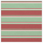 [ Thumbnail: Dark Sea Green, Brown & Bisque Colored Pattern Fabric ]