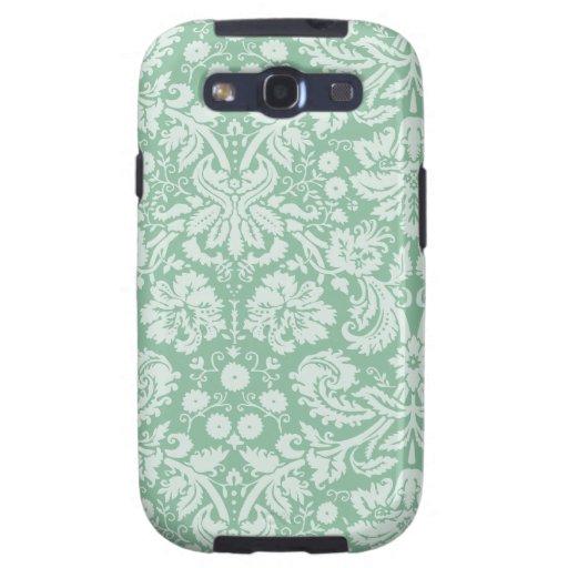 Dark Sea Green Damask Galaxy S3 Case