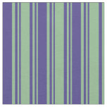 [ Thumbnail: Dark Sea Green & Dark Slate Blue Stripes Pattern Fabric ]