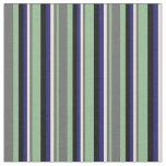 [ Thumbnail: Dark Sea Green, Gray, Bisque, Midnight Blue, Black Fabric ]