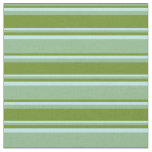 [ Thumbnail: Dark Sea Green, Green, and Turquoise Stripes Fabric ]