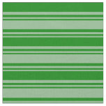 [ Thumbnail: Dark Sea Green & Green Striped/Lined Pattern Fabric ]