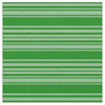 [ Thumbnail: Dark Sea Green & Green Striped Pattern Fabric ]