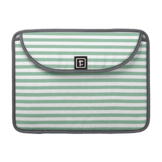 Dark Sea Green Horizontal Stripes Sleeve For MacBooks