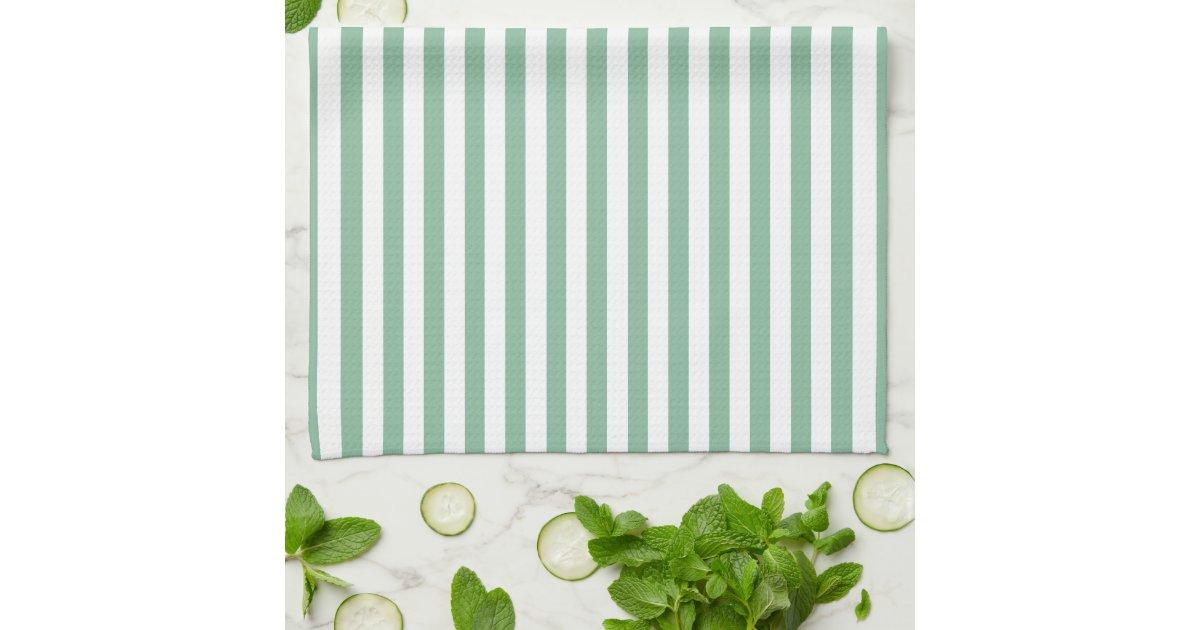 Dark Sea Green Horizontal Stripes Towel | Zazzle