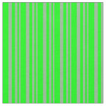[ Thumbnail: Dark Sea Green & Lime Colored Pattern of Stripes Fabric ]