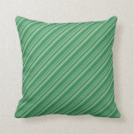 [ Thumbnail: Dark Sea Green & Sea Green Pattern Throw Pillow ]