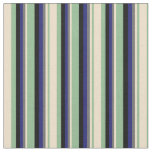 [ Thumbnail: Dark Sea Green, Tan, Gray, Midnight Blue & Black Fabric ]