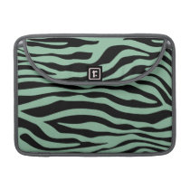 Dark Sea Green Zebra Stripes Animal Print Sleeve For MacBook Pro