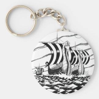dark sea voyage basic round button keychain