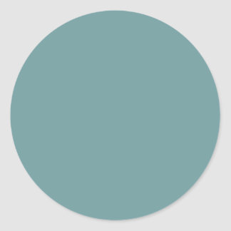 Dark Seafoam Blue Sea Foam Green Color Trend Stickers
