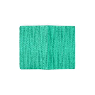 Dark Seafoam Green Weave Look Pocket Moleskine Notebook Cover With Notebook