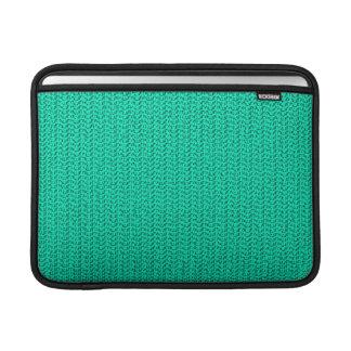 Dark Seafoam Green Weave Mesh Look Sleeve For MacBook Air
