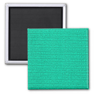 Dark Seafoam Green Weave Pattern Image Magnets