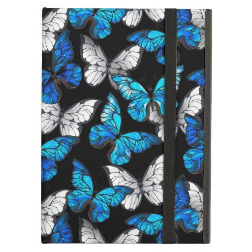 Dark Seamless Pattern with Blue Butterflies Morpho Case For iPad Air