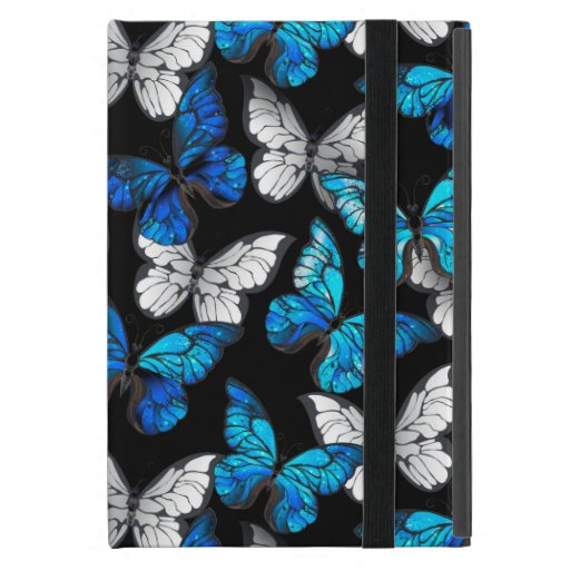 Dark Seamless Pattern with Blue Butterflies Morpho Case For iPad Mini