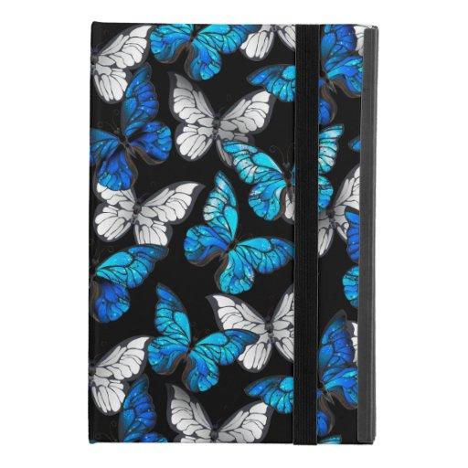 Dark Seamless Pattern with Blue Butterflies Morpho iPad Mini 4 Case