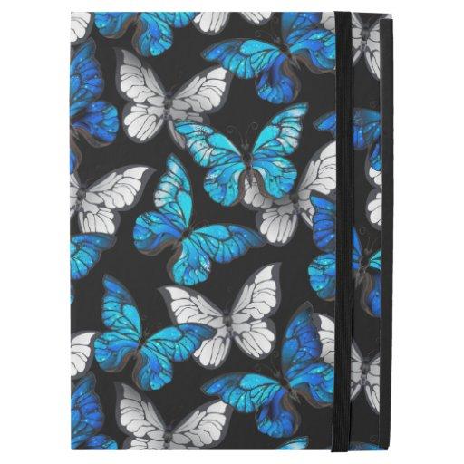 "Dark Seamless Pattern with Blue Butterflies Morpho iPad Pro 12.9"" Case"