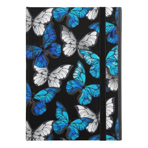 "Dark Seamless Pattern with Blue Butterflies Morpho iPad Pro 9.7"" Case"
