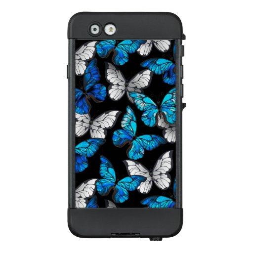 Dark Seamless Pattern with Blue Butterflies Morpho LifeProof NÜÜD iPhone 6 Case