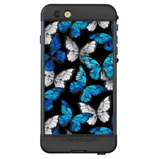 Dark Seamless Pattern with Blue Butterflies Morpho LifeProof NÜÜD iPhone 6s Plus Case