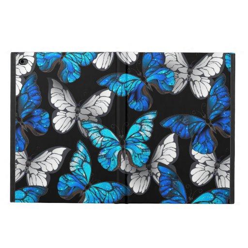 Dark Seamless Pattern with Blue Butterflies Morpho Powis iPad Air 2 Case