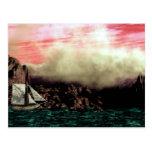 Dark Seas Gothic Landscape Postcard