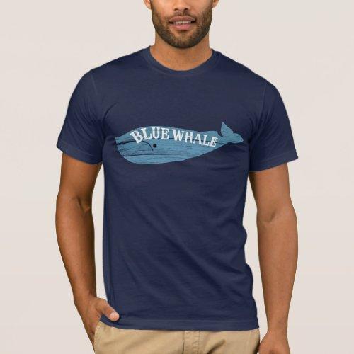 Dark Shadows Blue Whale Logo T_Shirt