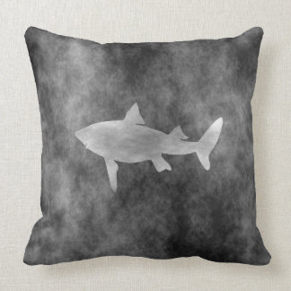 Dark Shark Art Throw Pillow