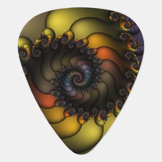 Dark Shell Fractal Guitar Pick