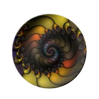 Dark Shell Fractal Plate
