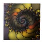 Dark Shell Fractal Tile