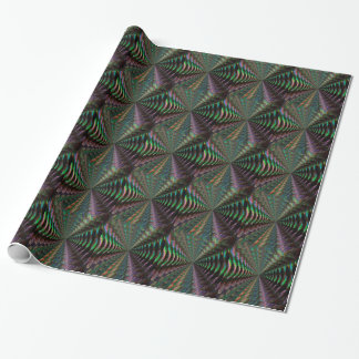 Dark Shiny Holographic Pattern Pixel Gift Wrap Paper