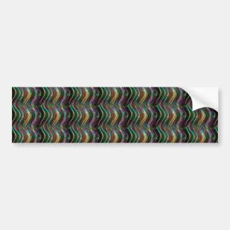 Dark Shiny Holographic Wave Pattern Pixel Bumper Sticker